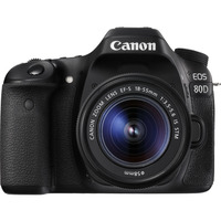Canon 80DKIS EOS 80D SINGLE KIT WITH EFS18-55ST LENS