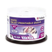 Verbatim DVD+R 4.7GB 50pk - Printable