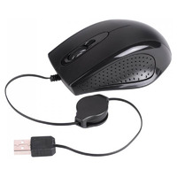 Laser Retractable Wired Mouse