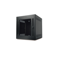 NetShelter WX Wall-Mount Enclosure 13U Glass Door Black